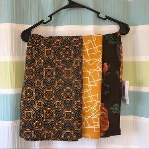 LuLaRoe Cassie Skirt LOT of 3